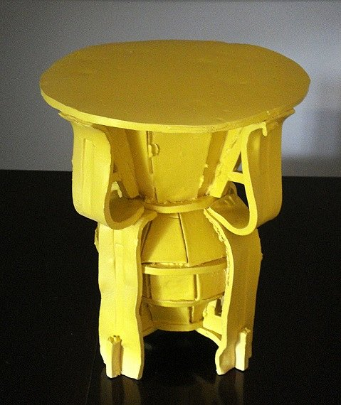Yellow Table Object